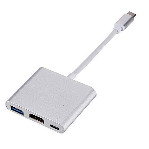 Osairous - Adaptador USB C a HDMI, convertidor multipuerto de tipo C, hub de cable a HDMI 4K, puerto USB 3.0, puerto de carga USB C para MacBook/iPad Pro/iMac/Samsung S9 / S8
