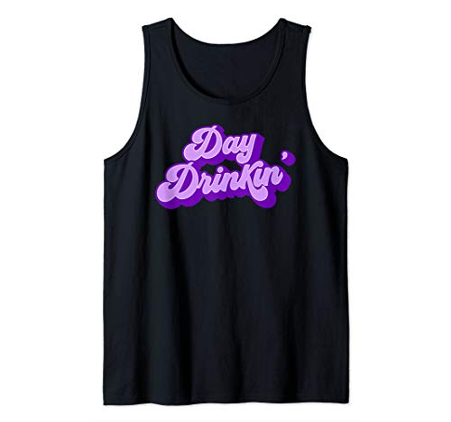 Cute and Retro Day Drinkin' in Purple and Lavender Tank Top