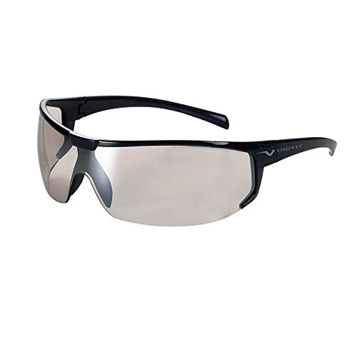Univet Ballistic - Gafas protectoras Softair 5 x 4, lentes de policarbonato (transparente y negro)
