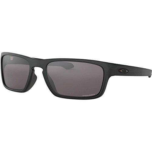 Price comparison product image Oakley Men's OO9408 Sliver Stealth Square Sunglasses,  Matte Black / Prizm Grey,  56 mm