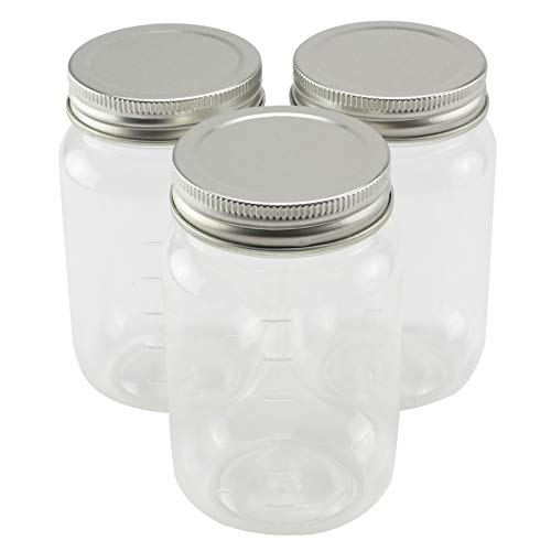 3ct. Plastic Mason Jars by Craft Smart, 16oz.