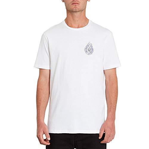 Volcom Herren Coral Morph SS Unterhemd, weiß, L