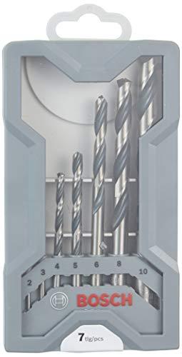 Bosch 2608577347 Metal Twist Drill HSS-Set PointTeQ X-Pro Line 7-Piece, 2-10 mm