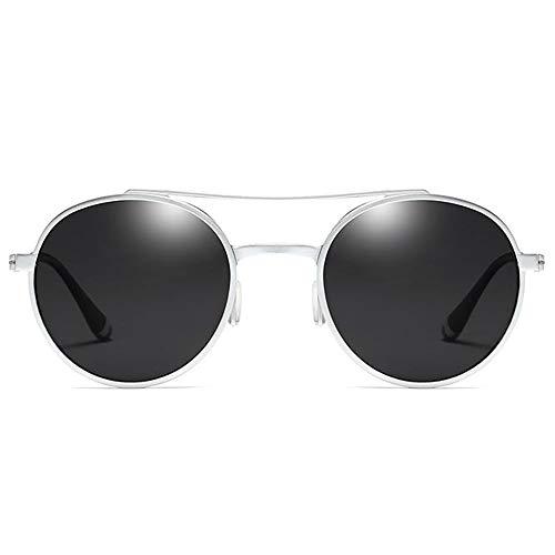 XiaoDong1 Polarizado aluminio magnesio deportes UV400 gafas de sol tendencia plata marco gris lente hombres y mujeres con las mismas gafas de sol
