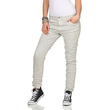 KAROSTAR Chino Damen Jeans Baggy Hose