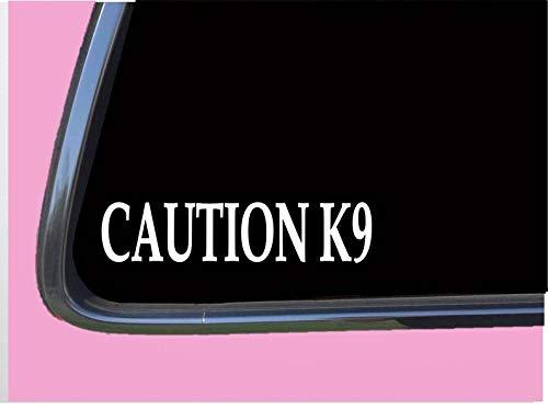 EricauBird Decal-Caution K9 8 Sticker tp Police Decal Malinois German Shepherd Muzzle Badge Removable Vinyl Sticker, 6'