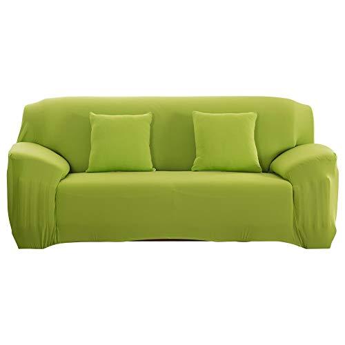 Cafopgrill Funda Protectora de sofá extraíble Antideslizante para sofá con Funda extraíble, Dos/Tres/Cuatro Asientos, Verde (3 Seater :190-230cm)