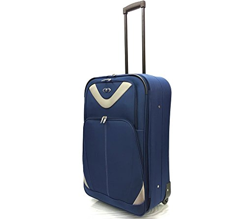 ATX Luggage Lightweight Durable Check in Suitcase Medium 26' with 2 Wheels & Expandable Feature Navy (26' Medium, Navy 630)
