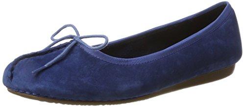 Clarks Damen Freckle Ice Geschlossene Ballerinas, Blau (Dark Blue Nubuck), 37.5 EU