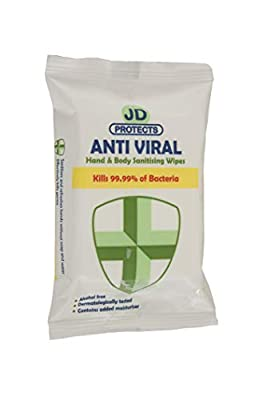John Dale JD Protects Anti Viral Wipes, Pack of 24 from John Dale Limited