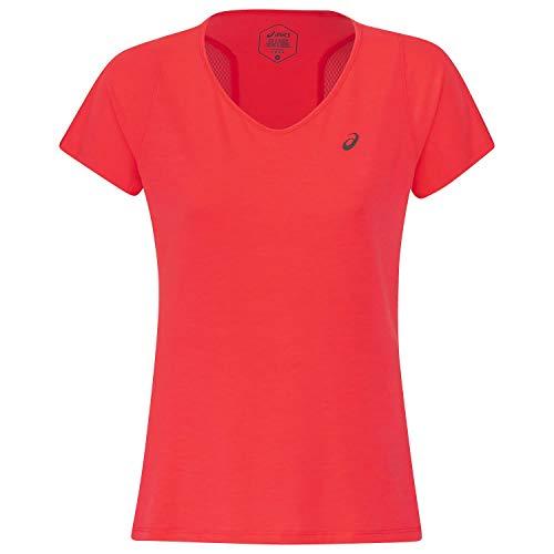 ASICS V-Neck SS T-Shirt Damen pink, XS (34 EU)