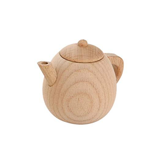 Exceart Küche So Tun Als Würde Man Spielzeug Spielen Holz Mini Teekannen Kochutensilien Küchenspielzeug für Kinder Kleinkind Geschenk Party Bevorzugt Größe M