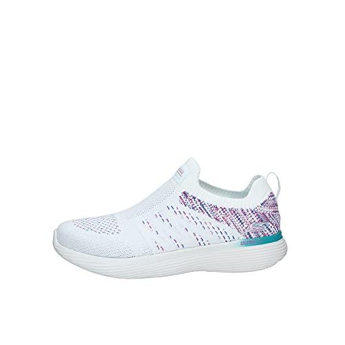 Skechers Zapatillas Go Run 400 V2-High Road para mujer, (Blanco, rosado, azul), 36 EU