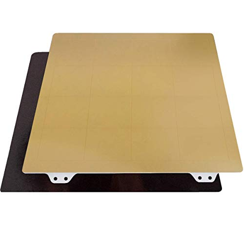Toaiot 3D Printing Build Plate Flexible Steel Spring Sheet Bed 150x150mm/ 5.9x5.9 inch with Thin PEI Magnetic Mounting Base Compatible with Qidi x-one2 Heated Bed Parts