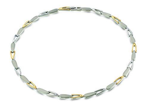 Boccia Titan Damen-Halskette Bicolor gold 08039-02