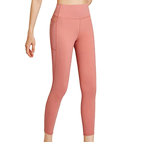 Leggings deportivos de cintura alta con control de abdomen para mujer, pantalones para correr, gimnasio, pantalones de yoga con bolsillos de entrenamiento de cintura alta pantalones con bolsillos