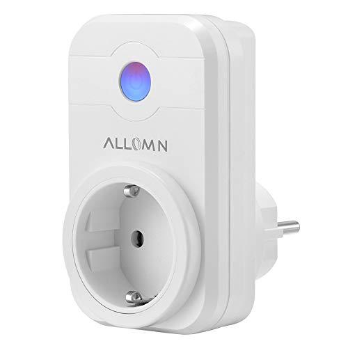 CAMPSLE Inalámbrico 2000W WiFi Smart Socket Salida inteligente Control remoto móvil Soporte Alexa Control de voz/Función de temporizador Enchufe de la UE para Android iOS Smartphone