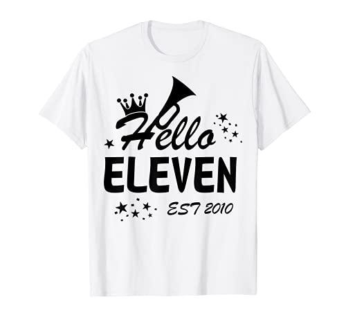 Hello Eleven Est 2010 - Maglietta per 11 anni Maglietta