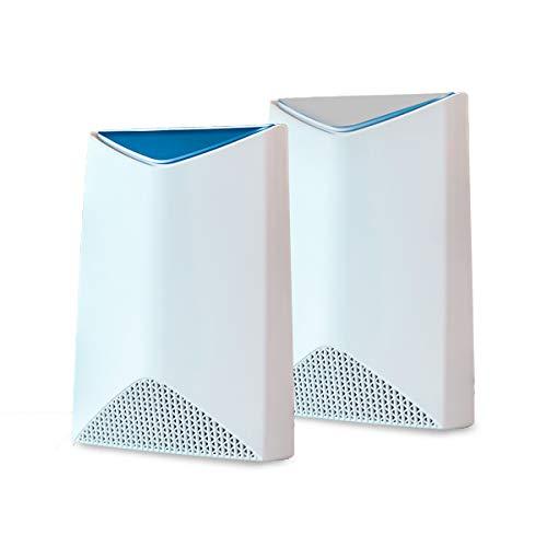 Netgear Orbi Pro SRK60 Sistema WiFi Mesh, paquete de 2, cobertura de hasta 350 m2, velocidad AC3000 tribanda, Blanco
