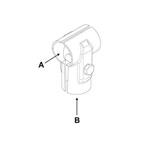 "Preisvergleich Produktbild T-Schelle geteilt,  A 1 / 2"" (21, 3 mm) x B 1 / 2"" (21, 3 mm)"