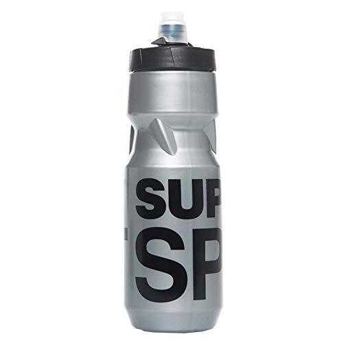 Superdry - Botella de plástico para deporte, color plateado