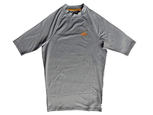 Quiksilver Sea Dog SS - Camiseta de Hombre con Protección 50+ UVA - Grey Heather - Talla M
