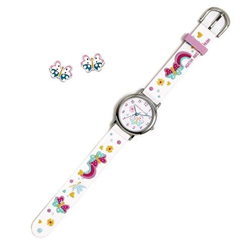 Conjunto Agatha Ruiz de la Prada AGR298 colección Fantasía niña mariposas reloj pendientes plata...