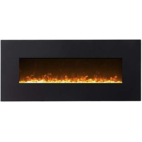 "Regal Flame Orion Black 50"" Crystal Ventless Heater Electric Wall Mounted Fireplace Better than Wood Fireplaces, Gas Logs, Fireplace Inserts, Log Sets, Gas Fireplaces, Space Heaters, Propane"