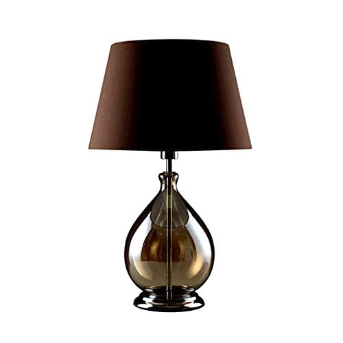 GANFANREN Lámpara de mesa dormitorio de noche creativo romántico romántico simple personalidad gris café nórdico mesa lámpara de mesa con control remoto salón salón