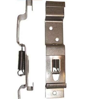 2 Pezzi Clip O Supporti per Targa Del Rimorchio Morsetti per Targa Portatarga in Acciaio Inossidabile Caricato a Molla