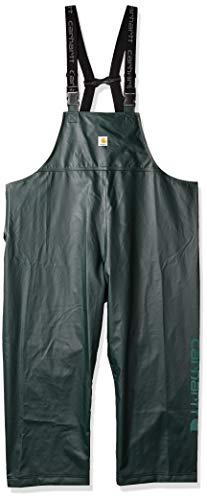 Carhartt Men's Lightweight Waterproof Rainstorm Bib Overalls, Canopy Green, Medium