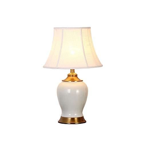Lámpara De Sobremesa De Cerámica De Estilo De América del País Estudio De Sala Lámpara De Escritorio Cálido Y Romántico Lámpara De Escritorio