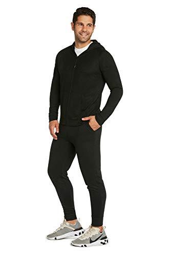 9 Crowns - Conjunto de Sudadera y pantalón para Hombre - Negro - Large