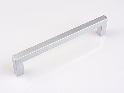 Gedotec Design Schrankgriff Chrom matt Möbelgriff Küche Schubladengriff Modell HALI | Bohrabstand 448 mm | 1 Stück mit Schrauben