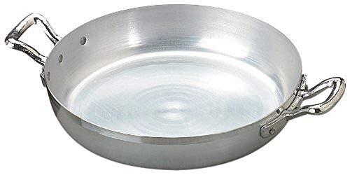Pentole Agnelli Family Cooking Alluminio Tegame con 2 Maniglie, Argento, 40 cm