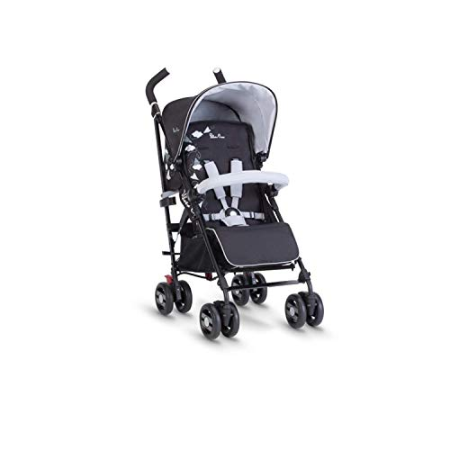 Silver Cross Pop Star Stroller Compact and Lightweight Pushchair – Paper Planes Black