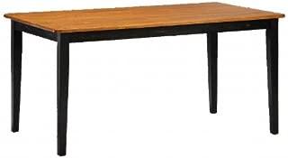 boraam 70536 shaker table black oak