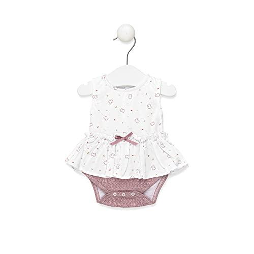 TOUS BABY - Body sin mangas efecto vestido para tu Bebé. Estampado Chill. Color Marrón.(0-1 mes)