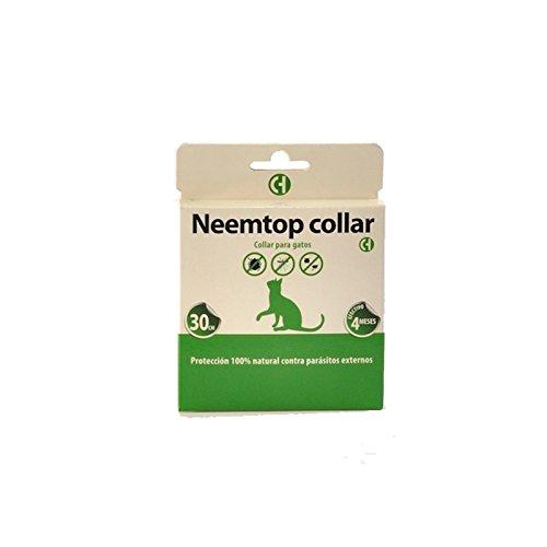 """Collar para gatos""""Neemtop"""" SIN INSECTICIDA (30cm) de todo tipo de insectos (mosquitos, pulgas, piojos, garrapatas.)"""