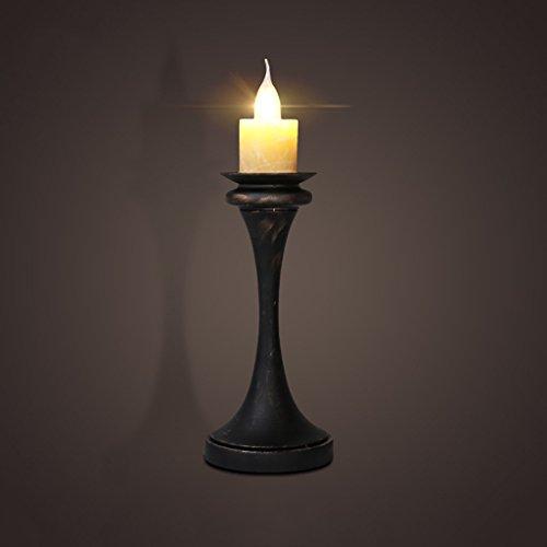 Retro kaars tafellamp koffie restaurant bar studie lichten slaapkamer nachtkastje lamp ijzer bureau lamp nachtlampje