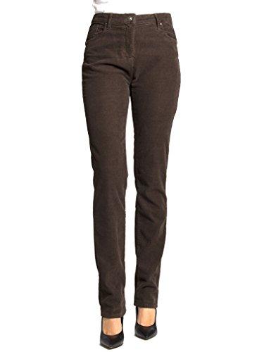 Carrera Jeans - Pantalon 753 pour Femme, Style Droit, Couleur Unie, Velours, Taille Normale, Taille Haute