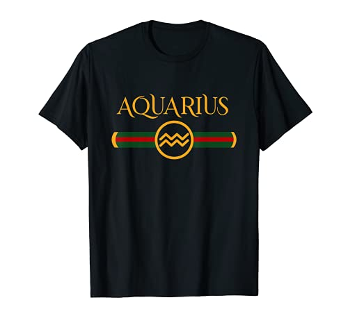 Aquarius Zodiac May April Birthday Graphic Art Aquarius Sign T-Shirt