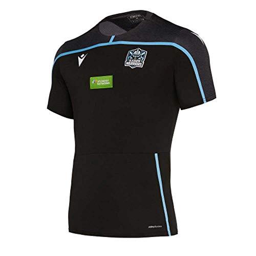 Macron Glasgow Warriors Rugby Travel T-Shirt, Schwarz , Größe S