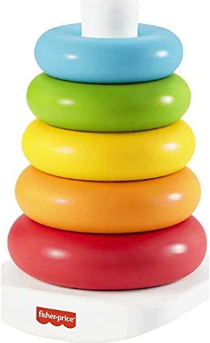 Fisher-Price Piramide 5 Anelli Eco, in Materiali Vegetali, Giocattolo Impilabile per Bambini 6+Mesi, GRF09