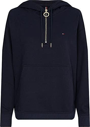 Tommy Hilfiger Damen TH ESS Oversized Half Zip Hoodie Kapuzenpullover, Blue, XX-Large