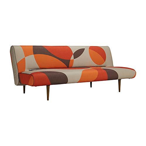Innovation Unfurl Geo Desert Schlafsofa 200x93cm, grau, rot, orange, braun Stoff 688 Geo Desert Gestell Stahl schwarz Füße Ulme dunkel