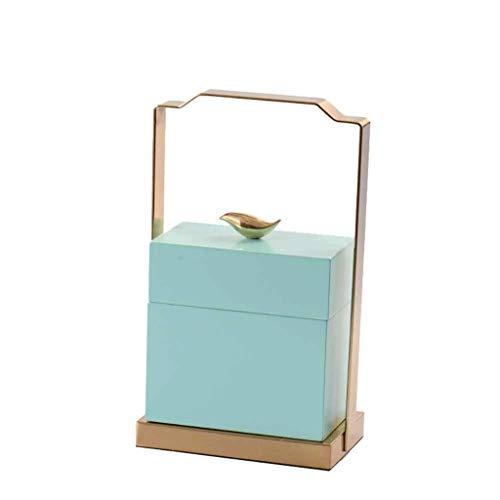 W-HUAJIA Caja de joyería Hecho a Mano Joyería de Viaje Organizador de la Caja de Almacenamiento para niña Pendiente de señora, Anillo, Collar, Colgante, Reloj, Pulsera.(Tamaño: 34.5 * 21 * 12 cm)