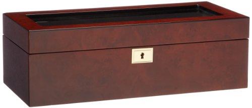 WOLF 461510 Savoy 5 Stück Uhrenbox aus Burlwood