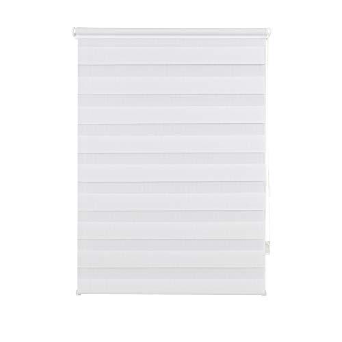 Doppelrollo Klemmfix ohne Bohren Seitenzugrollo Klemmen Sichtschutz Sonnenschutz Blickdicht Fenster innen 45x160 cm Weiß