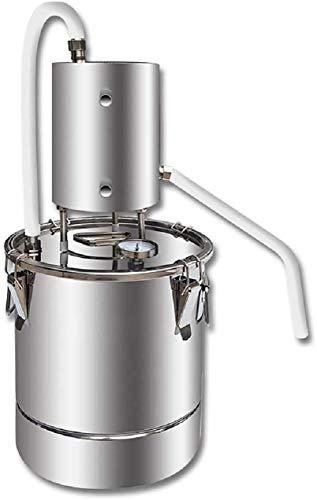 Kleine Heimbrühmaschine Home Wine Dampfgerät Wein Destilliergerät Wein Brauerei Ausrüstung Hydrosol Destiller (201 Edelstahl, 55L)